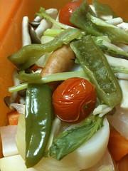 シリコンスチーマーで野菜蒸し