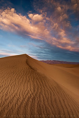 Mesquite Dunes Sunset #1 - Death Valley National Park, California (Jim Patterson Photography) Tags: california travel sunset sky usa nature clouds landscape sand desert patterns dunes stovepipewells deathvalleynationalpark inyocounty mesquitedunes jimpattersonphotography jimpattersonphotographycom seatosummitworkshops seatosummitworkshopscom