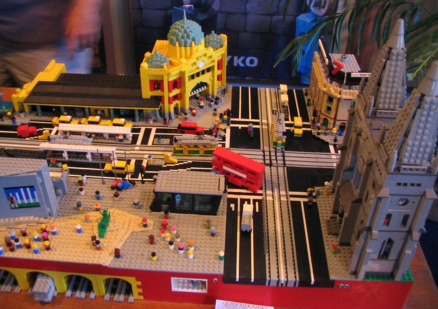 Flinders St/Swanston St in Lego, at Brickvention 2009
