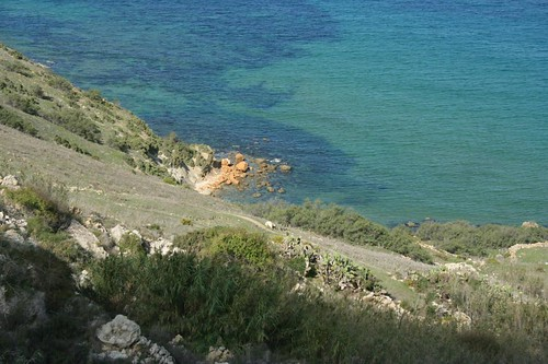 Photo of the sea in Calypso Cave site in Gozo Island, Malta