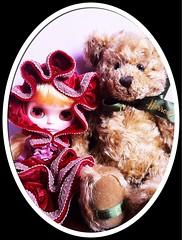 Lady and Teddy bear