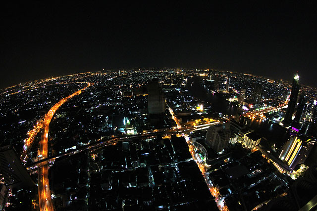 Bangkok skyview by night, Sirocco