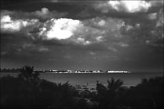 (manni39) Tags: beach clouds strand analog blackwhite meer minolta tunisia 28mm wolken sigma vintagecamera schwarzweiss hammamet ilford redfilter oldstuff panf rotfilter srt303b