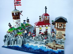 Guess who is in town tonight ? (74louloute) Tags: lego carribean pirate jolly roger moc pillage jrc plundering