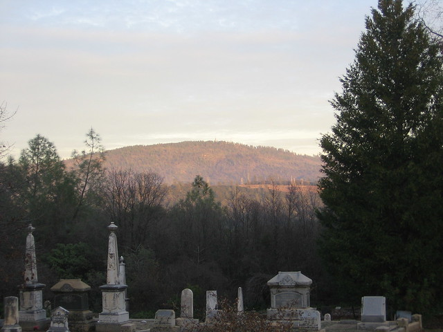 A view from the cemetery