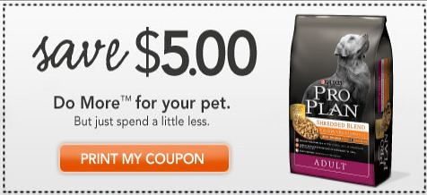 5 off Purina Pro Plan Coupon