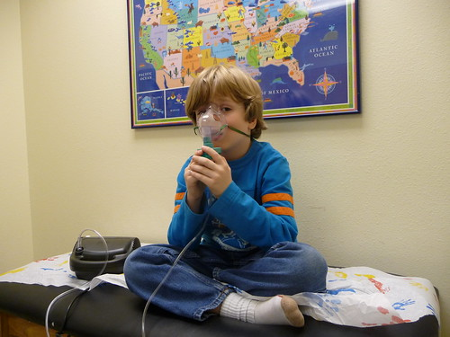 Breathing treatment at dr office