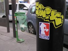 Paris Street Stickers 2011 (freaQ) Tags: urban streetart happy sticker stickerart character paste stickers cartoon vinyl adhesive printed handdrawn combo stickercombo straatkunst stickerpack freaq stickertrade