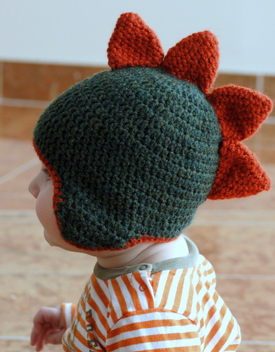 Dino Spike Crochet Hat Pattern by The Boy Trifecta