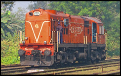 My first diesel upload................. (Raj Kumar (The Rail Enthusiast)) Tags: yard indian railways raj ecr kumar dhanbad irfca 16045 patratu wdm3 ptru patherdih