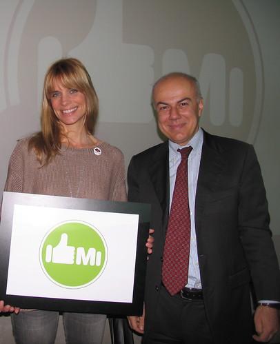 Edoardo Croci con Filippa Lagerback, 19 gennaio 2011