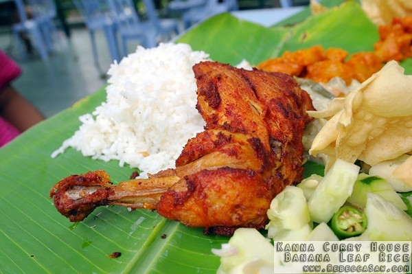Kanna Curry House - Banana Leaf Rice-06
