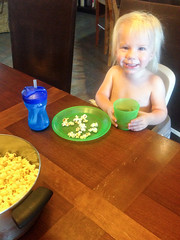 20151006_Shannon_phone_0035.jpg (Ryan and Shannon Gutenkunst) Tags: codygutenkunst applecider diningtable popcorn smile snack snacktime waterbottle tucson az usa