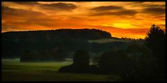 morning has broken... (P.Hcherl) Tags: 2016 nikon d5300 tamron weiden oberpfalz bayern deutschland germany bvavaria upperpalatinate tamron16300mmf3563diiinafvcpzdmacro morgen morgendmmerung sonnenaufgang sunrise colorful orange yellow green black schwarz landscape landschaft