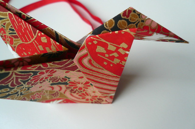 Origami Bird Christmas Ornament