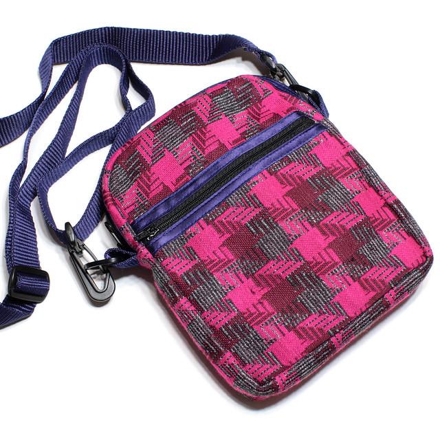 Vintage pink check handmade bag