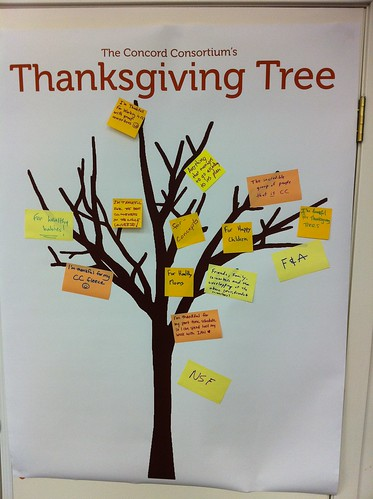 Concord Consortium Thanksgiving Tree