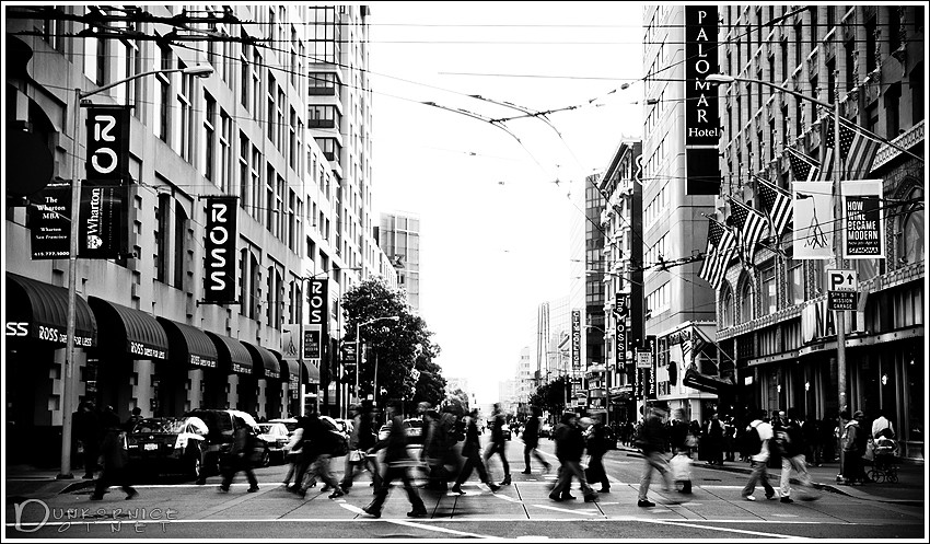 Crosswalk B&W.