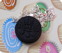 Oreo necklace (PeachNia) Tags: life birthday pink food cats silly cute love dogs girl sunshine cake hair puppy fun reading puppies knitting candy sweet chocolate crafts crochet smiles fake kitty bob books cupcake chihuahuas kitties cath bake dodgers crafting jammy kidston adorabole