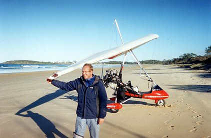 Myro's creator Nick Rose lands on an Australia beach after epic flight  from Bournemouth aerodrome
