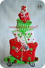 Topsy Turvy Presents (Sweet Pudgy Panda) Tags: christmas cookie royal sugar presents icing wonky picnik topsyturvy hatbox sweetpudgypanda