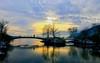Biel/Bienne---Strandboden (jd.echenard) Tags: sunset promenade neige ponts coucherdesoleil biel bienne seeland cantondeberne strandboden paysagesuisse switzerlandlandscape schweizerlandschaft
