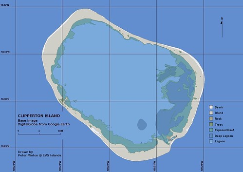 Clipperton Island - EEVS Map (1-17030)