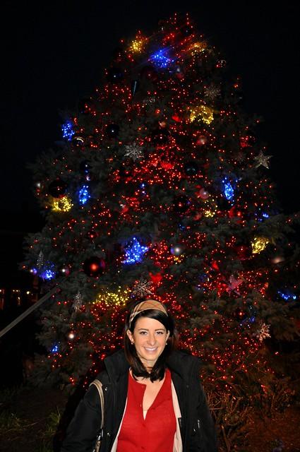 Me with Main Street Christmas Tree