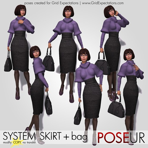 POSEUR - system skirt poses, with bad holding versions