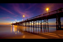 newport beach (Eric 5D Mark III) Tags: ocean california longexposure light sky cloud seascape color beach night canon landscape star pier vanishingpoint perspective atmosphere wideangle newportbeach orangecounty tone brust ef1635mmf28liiusm eos5dmarkii