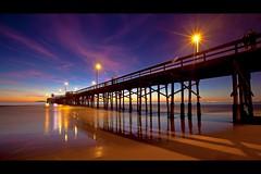 newport beach (Eric 5D Mark III) Tags: ocean california longexposure light sky cloud seascape color beach night canon landscape star pier vanishingpoint perspective atmosphere wideangle newportbeach orangecounty tone brust ef1635mmf28liiusm eos5dmarkii