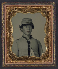 [Unidentified soldier in Confederate uniform and forage cap] (LOC) (The Library of Congress) Tags: soldier uniform unitedstates military confederate civilwar american libraryofcongress americancivilwar uscivilwar xmlns:dc=httppurlorgdcelements11 dc:identifier=httphdllocgovlocpnpppmsca27148