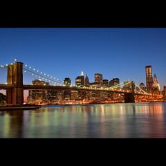 Brooklyn Bridge (whc7294) Tags: nyc usa newyork dumbo brooklynbridge eastriver hdr lowermanhattan ニューヨーク brooklynbridgepark photomatix empirefultonferrystatepark 2470mmf28 10faves ブルックリンブリッジ platinumheartaward nikond300 ダンボ ロウアーマンハッタン