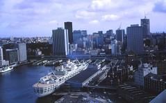 "#565 Ship ""Oriana"" Sydney Harbour c Jan 1966 SS Oriana P&O ship"
