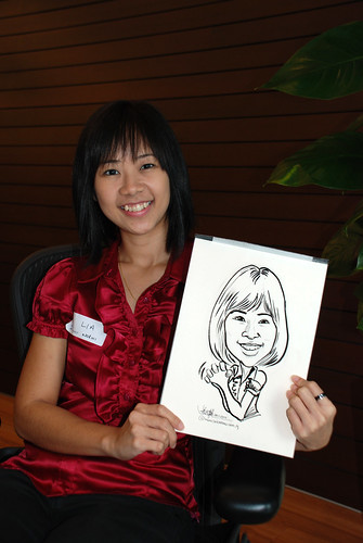 Caricature live sketching for Pan Pacific Hotels Group Family Day -4