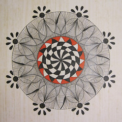 mandala003 (Amaryllis Creations) Tags: mandala penink zentangle