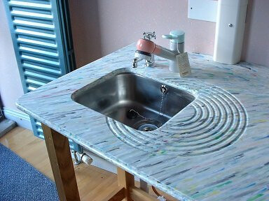worktop in recycled plastic by Smile. design - Ian Trevor Brown