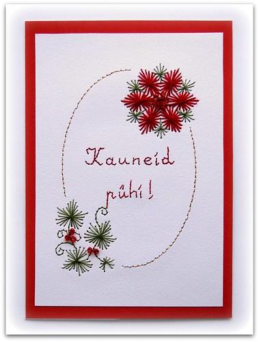 Tikitud jõulukaart