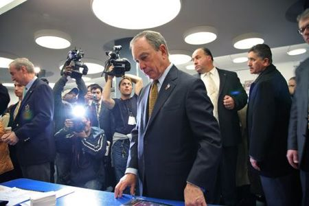Mayor Bloomberg Votes