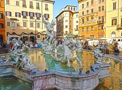 Fontana del Nettuno (Daniel Schwabe) Tags: italy rome roma fountain statue bravo italia neptune piazzanavona hdr fontanadelnettuno anawesomeshot