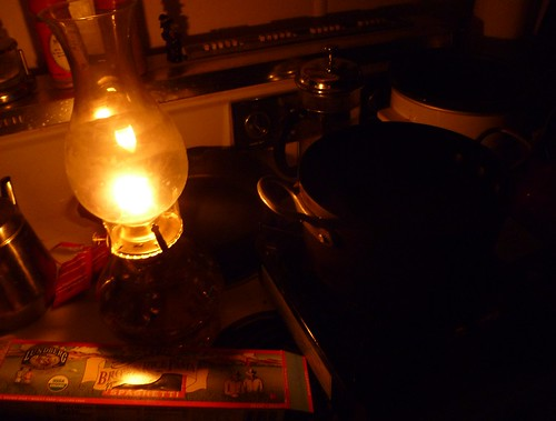 Pasta by lamp light