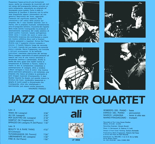 jazz quatter quartet - ali back