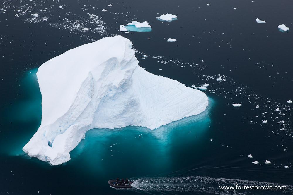 Antarctica, Zodiac, Iceberg