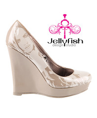 HOLIDAYS are almost here! $99 Studio Jellyfish high heels just in time for Christmas! Free Shipping! http://tinyurl.com/29ldu6a (Studiojellyfish) Tags: life party woman white black sexy love nature girl beautiful make illustration turn book design high perfect shoes jellyfish comic hand painted platform inspired style super kind created just attitude purse heads heels heel features debbie sure samantha feature aren't