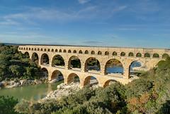 Pont du Gard, France (GlobeTrotter 2000) Tags: bridge france river europe roman south du unesco aqueduct pont nimes gard uzes gettyimagesfranceq1