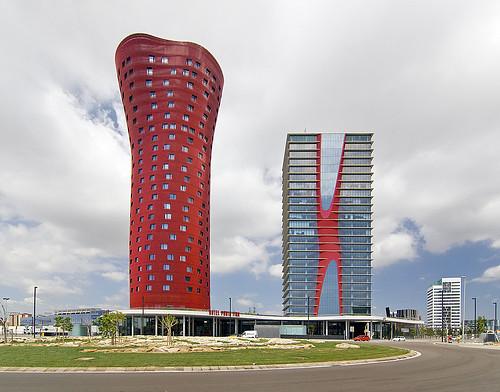 Torres Porta Fira, Barcelona, Spain