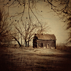Something from Nothing. (eRachel11) Tags: old house texture oklahoma sepia photoshop ancient nikon country tuesday shack arcadia 2010 fallingapart outinthesticks d7000 nikond7000 attackofthecows kimklassen oklahomathanksgivingtrip