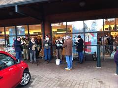 Carols outside Waitrose, Abingdon
