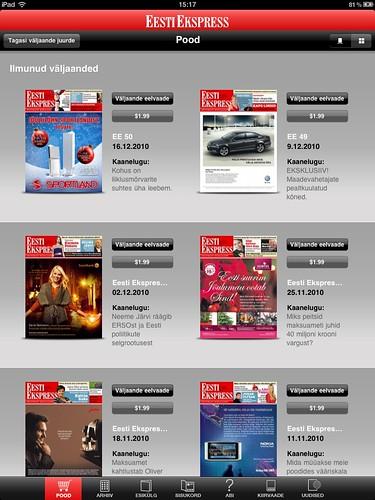 Eesti Ekspress iPadil: pood