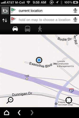 Bing iPhone App 2.0 - Directions